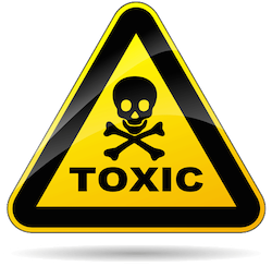 image of a toxic warning symbol